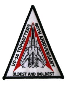 VF-14 TOPHATTERS F-14 Tomcat Shoulder triangle