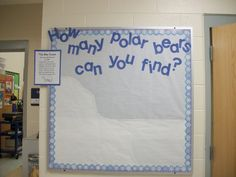 How many polar bears can you find...what a fun counting activity to begin the each day during the arctic unit!