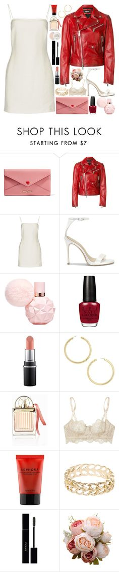 """""""Untitled #1088"""" by douxlaur ❤ liked on Polyvore featuring Miu Miu, Dsquared2, Bec & Bridge, BaubleBar, Chloé, I.D. SARRIERI, Sephora Collection, Gucci, Fresh and valentinesday"""