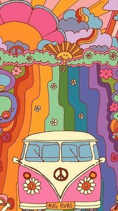 Retro Wallpaper Iphone, Hippie Wallpaper, Trippy Wallpaper, Aesthetic Iphone Wallpaper, Cartoon Wallpaper, Aesthetic Wallpapers, Arte Indie, Indie Art, Indie Drawings