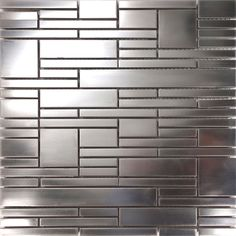 10sf Unique Stainless Steel Pattern Mosaic Tile Kitchen Backsplash Bath Wall And