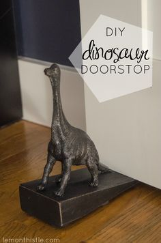 How cute is this! DIY Dinosaur Doorstop (an Anthro knock-off) could be made with any animal!