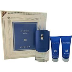 Givenchy Blue Label by Givenchy for Men - 3 Pc Gift Set 3.3oz EDT Spray, 2.5oz Hair and Body Shower Gel, 2.5oz Alcohol-Free After Shave Moisturizing Balm
