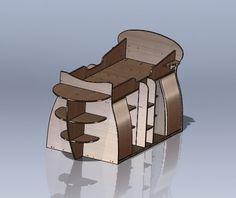 Ship shaped bed - SOLIDWORKS - 3D CAD model - GrabCAD