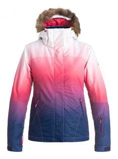2017 Roxy Jet Ski Gradient Paradise Pink Women s Snowboard Ski Jacket NEW 72743f169