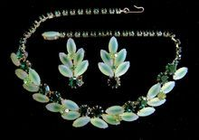 Special Occasion Frosty Green Rhinestone Choker Necklace and Clip Earring Set is in tomorrow's Ruby Lane 50% off Red Tag Sale.  Dec. 14th 8AM to 4PM (PST).  I have over 65 items in the sale.