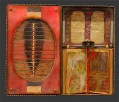 Ray Papka - Box of Books, mixed media, oil, encaustic, found objects