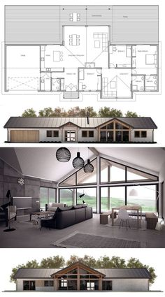 Love this Floor Plan! Would maybe make garage as just awning not built in & add walk in pantry... Lounge room would be kids retreat/ tv/toy/games room! eli: metal roof on a ranch.