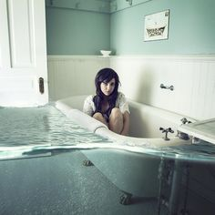 Artistic Portrait Photography  @Kirsty hey we could use my bath but make it really morbid. I think I would like to do a set of self portraits all conveying different emotions.