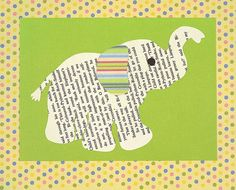 Elephant Silhouette Nursery Art Print by thepaperpear on Etsy, $15.00