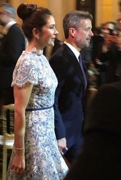 8 October 2019 - Working visit to Paris (day dinner at Hôtel de Ville - dress by Moss & Spy, shoes by Gianvito Rossi, clutch by Prada Princess Stephanie, Princess Estelle, Princess Charlene, Princess Madeleine, Crown Princess Victoria, Crown Princess Mary, Princess Kate, Prince Frederick, Queen Margrethe Ii
