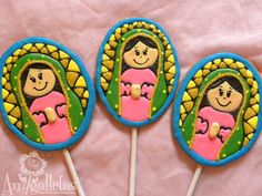 Virgencitas  Our lady of Guadalupe Cookies by Amigalletas on Etsy, $35.99