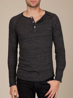 L/S Raglan Henley by alternative apparel is one of our favorites!