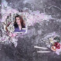 Layout using the Rose Quartz collection for the Accent Scrapbooking Challenge