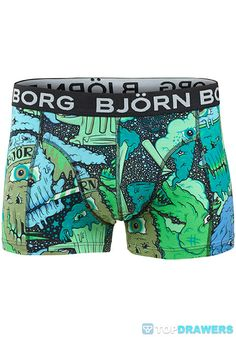Bjorn Borg Free Hand Shorts Green 134194-102045 [134194-102045] - $32.00 : Topdrawers Underwear, Underwear for Men