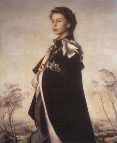 Pietro Annigoni - Portrait of Queen Elisabeth II