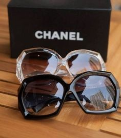 chanel octagonal sunglasses