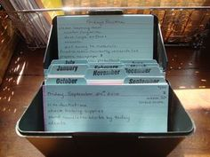 "Implementing index cards with chores & ""To Do"" Lists ~ After reading this post I remember reading another organizing blog that had ""chore cards"" (like these) laminated & on notebook rings. These rings were then able to be toted from room to room. ~ I tend to drift to the ADD side of things & sometimes need things broken down to even smaller lists & to have something physical to check off even the most mundane of tasks."
