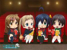 Rikka Takanashi, Shinka Nibutani, Kumin Tsuyuri, Sanae Dekomori (chibi)