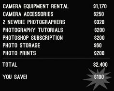 LOL! FUNNY- How to Save Big Money by Not Hiring a Professional Wedding Photographer