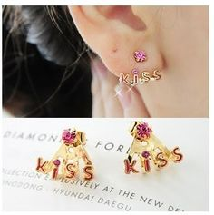 P.S. I Love You More Boutique | Kiss Earrings | Spring Summer Fashion 2014 www.psiloveyoumoreboutique.com