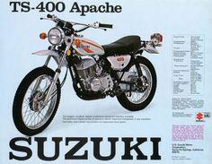 Trail Motorcycle, Motorcross Bike, Motorcycle Posters, Retro Motorcycle, Suzuki Motorcycle, Vintage Motocross, Vintage Bikes, Vintage Motorcycles, Suzuki Bikes