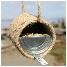 Top 10 Eco-Friendly DIY Bird Feeders. Rod, you could do this with that free rope I picked up. (I had to get it, it was FREE)!!