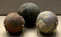 These are Roman balls.   Lawrence, Caroline. 2009. Roman Mysteries. web. 27 Sept 2011.
