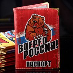 Russian Pu leather multiple passport pouch cases travel passport organizer carrier cover wallet mens personalized passport cover