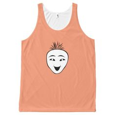 Funny mask All-Over print tank top Tank Tops