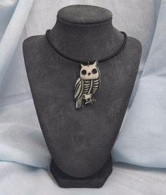 Owl Skeleton Necklace - Build Your Empire Clothing Co | Nu goth & Alternative Apparel