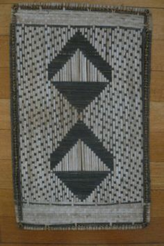 Losa Mat from the Mbole people in D.R. Congo. 52,5 x 31,5 cm