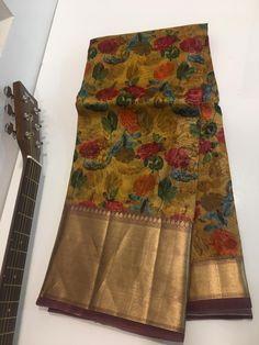 Buy Pure kora organza sarees with price at siri designers 8897195985 Silk Saree Banarasi, Organza Saree, Cotton Saree, Sarees For Girls, Indian Bridal Outfits, Wedding Silk Saree, Saree Blouse Neck Designs, Trendy Sarees, Trendy Colors
