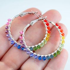 NEW Bright Rainbow Jewelry Colorful Swarovski by LivEveryDay, $55.00