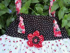 Sweet Cherry Knot DressSize 5 by gumdroptree on Etsy, $30.00