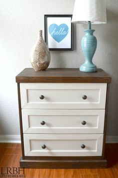 Check out this gorgeous Two Toned IKEA Rast Hack.