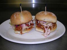 Pulled BBQ Pork Sliders with Vinegar Cole Slaw - so good!