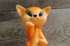 vintage rubber toy ... chanterelle ... fox by VintageBoutique4U