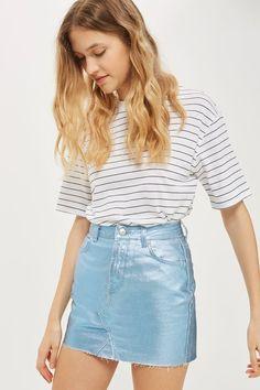 MOTO Coated Mini Skirt