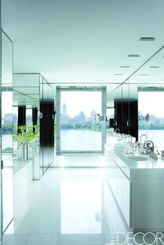 Black And White Bathrooms - ELLEDecor.com