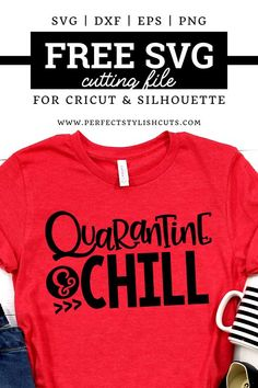 Free Quarantine And Chill SVG File for Cricut projects and Silhouette cameo projects from PerfectStylishCut. Perfect for all DIY projects with your cutting machine. Free Font Design, Design Logo, Cricut Svg Files Free, Free Svg Cut Files, Silhouette Cameo Projects, Silhouette Cameo Shirt, Cricut Creations, Svg Cuts, Cricut Design