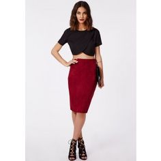 Sysal Wrap Front Crop Top Black - Tops - Crop Tops & Bralets - Missguided