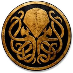 Cthulhu...(I have a hat with this symbol on it).