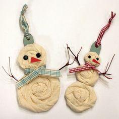 diy fabric christmas ornaments - Google Search