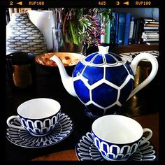 Hermes tea pot and cups, a gift from the team at Vogue Living and part of David Clark's week in pictures on the Temple & Webster blog.