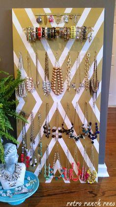 DIY Jewelry Organizer.