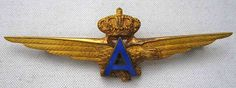 The arms/badge of the Italo Balbo's Atlantic Pilots. The blue A is for atlantic.