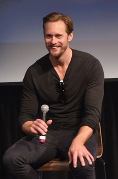 "Alexander Skarsgard Photos - Actor Alexander Skarsgard speaks on stage during Q&A for ""The Diary of a Teenage Girl"" at SCAD Museum of Arts during Day Three of the18th Annual Savannah Film Festival Presented by SCAD on October 26, 2015 in Savannah, Georgia. - SCAD Presents 18th Annual Savannah Film Festival - Day 3"