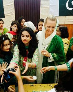 wife of waseem akram #celebrating#independencedayofpakistan