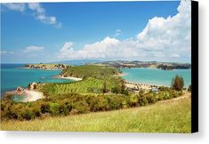 Joan Carroll Canvas Print featuring the photograph North Tower Viewpoint Rotoroa New Zealand by Joan Carroll